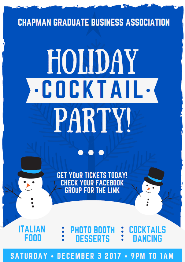 Photo: Tickets are running out for the Chapman GBA Winter party!! You don'...