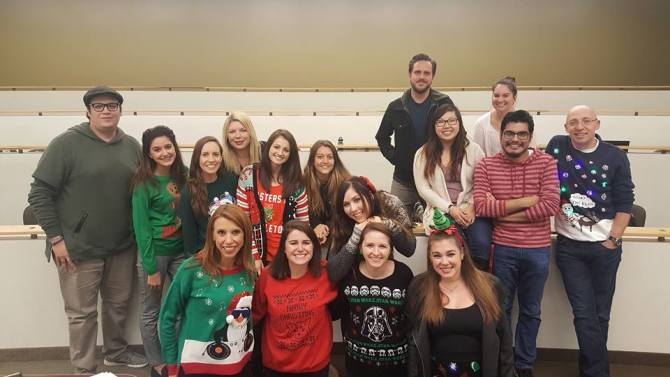 Photo: Seasons Greetings from the Second Year MFT Cohort (the Class of 201...