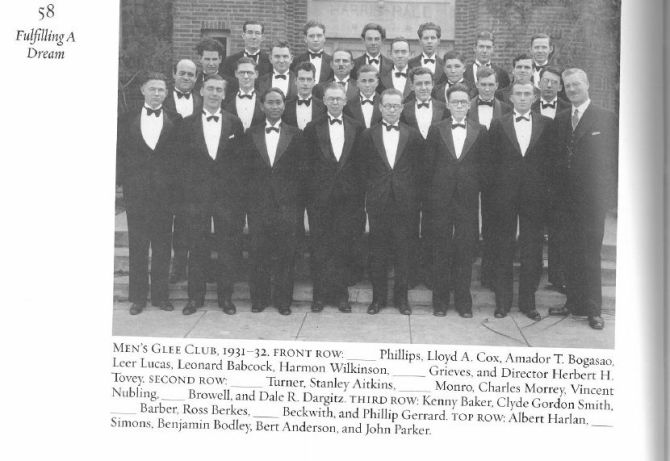 Photo: #TBT: Men's Glee Club 1931-1932.
