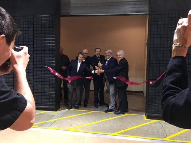 Photo: And with the cutting of the ribbon, Chapman Studios West is now ope...