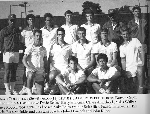 Photo: #TBT to the men's tennis team of '86. Who else is looking forward t...