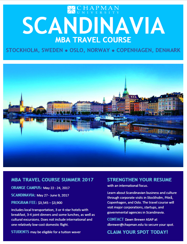 Photo: Spots for this summer's Business in Scandinavia MBA Travel Course a...
