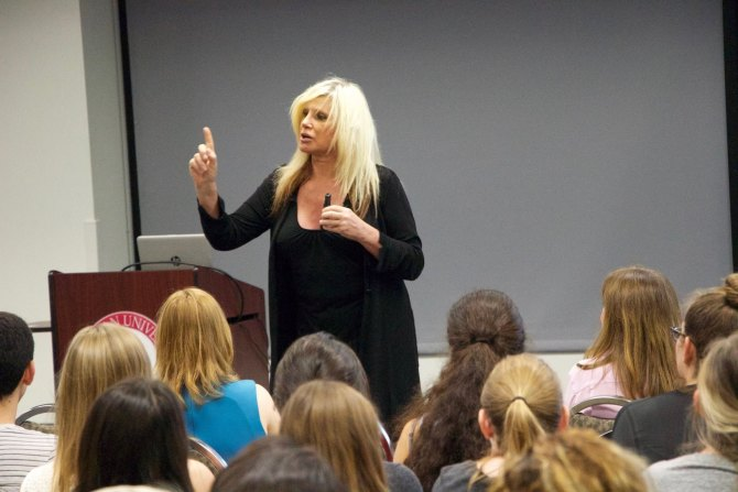 Photo: Last week the Psychology department was honored to host Jessica Lyn...
