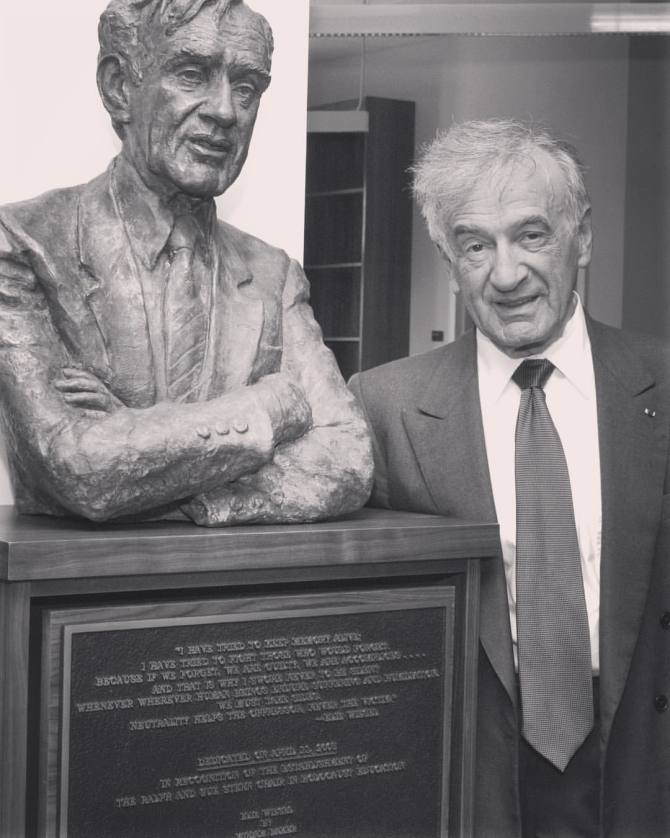 Photo: #ThrowbackThursday to April 2005 when Elie Wiesel dedicated the Sam...