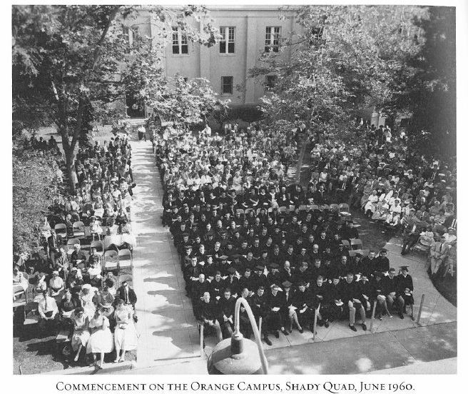 Photo: #ThrowbackThursday to a shady commencement in 1960.