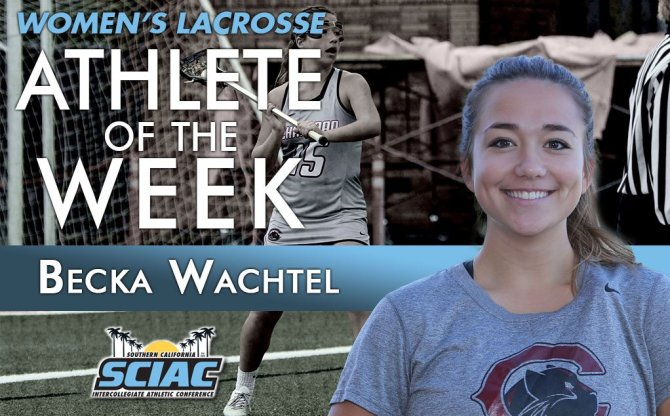 Photo: And another one! Becka Wachtel is #theSCIAC Athlete of the Week for...