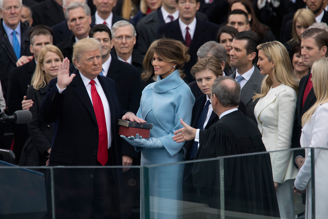 Photo: It's almost been 100 days since Donald Trump took the oath of offic...