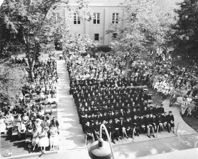Photo: #ThrowbackThursday to Chapman Commencement 1960 in the Shady Quad. ...