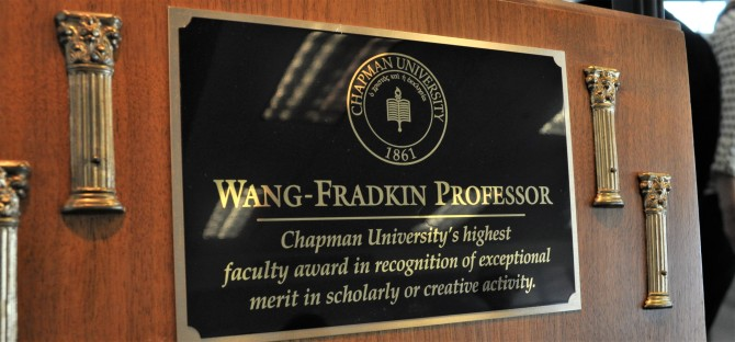 Photo: Professors honored for research, scholarly achi...