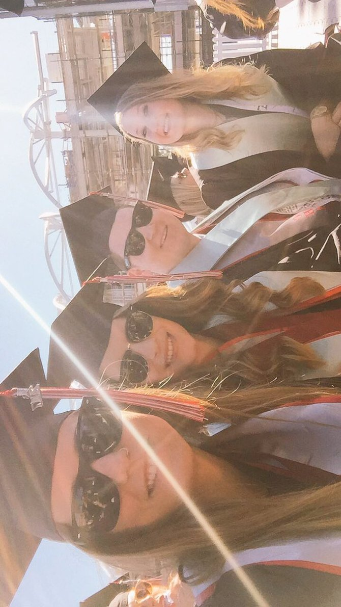 Photo: MY CREW SINCE DAY 1 😘❤️💃🏼  #chapmanu #graduation2017 #graphicdesign...