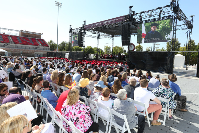 Photo: Chapman Law Class of 2017 Commencement Ceremony...