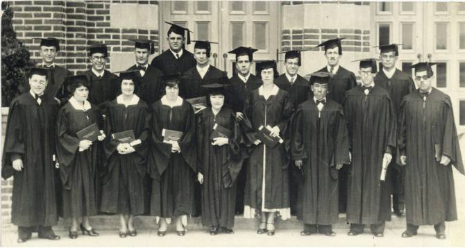 Photo: #ThrowbackThursday - The class of 1930 poses with their degrees.