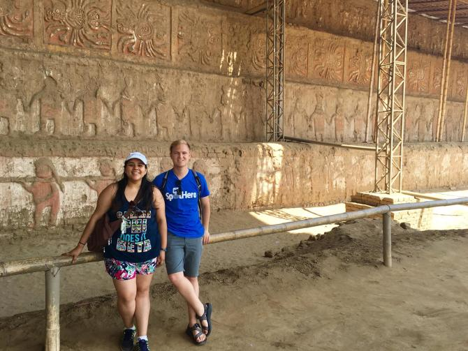 Photo: Sally Horna '13 and Anthony Jacobsmeyer '14 traveled to Peru togeth...