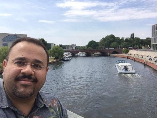 Photo: In honor of #NationalSelfieDay, here's Dr. Hesham El-Askary in Berl...