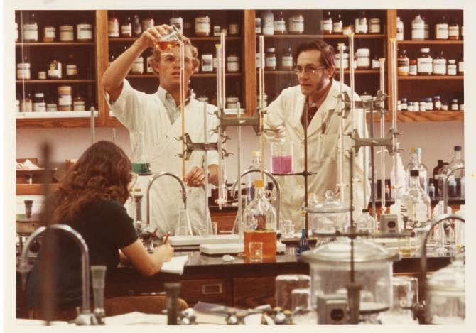 Photo: #ThrowbackThursday to chemistry professor, Vance Gritton,  with his...