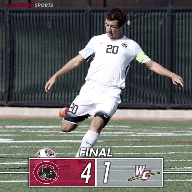 Photo: Men's soccer earns its third win in a row!! Goals by Braund (2), Qu...