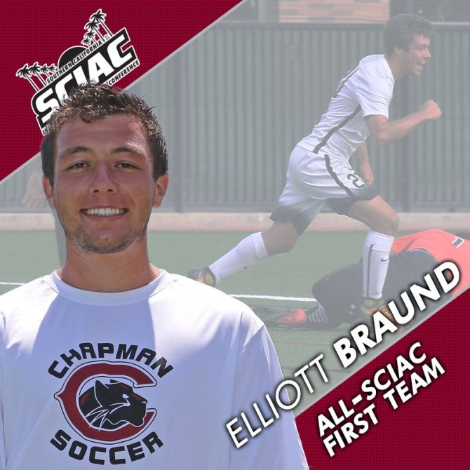Photo: Braund, Howe, Augustine, and Matteoni all selected to the All-SCIAC...