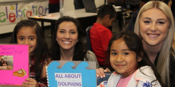 Photo: Attallah College students celebrate literacy with local elementary ...