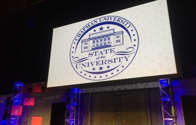 Photo: Save the Date for State of the University, Frid...