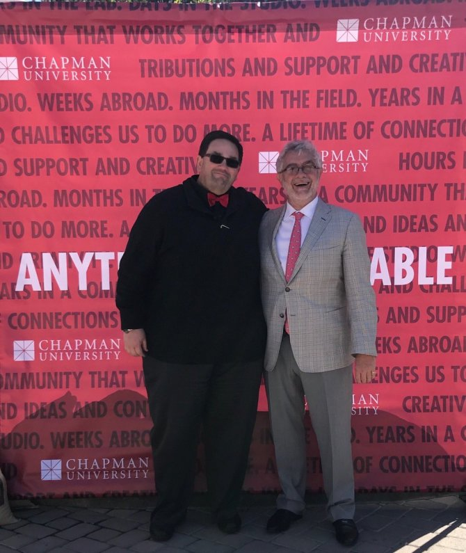 Photo: #chapmanu  good  news from our great president yesterday at the sta...