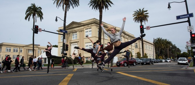 Photo: Footloose on campus ... and in the streets