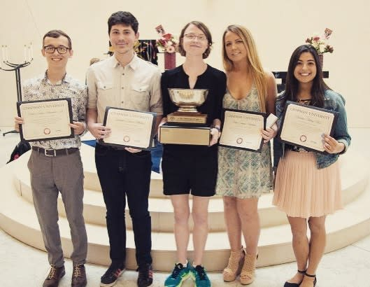 Photo: This photo is from the 2017 Campus Leadership Awards, featuring Che...