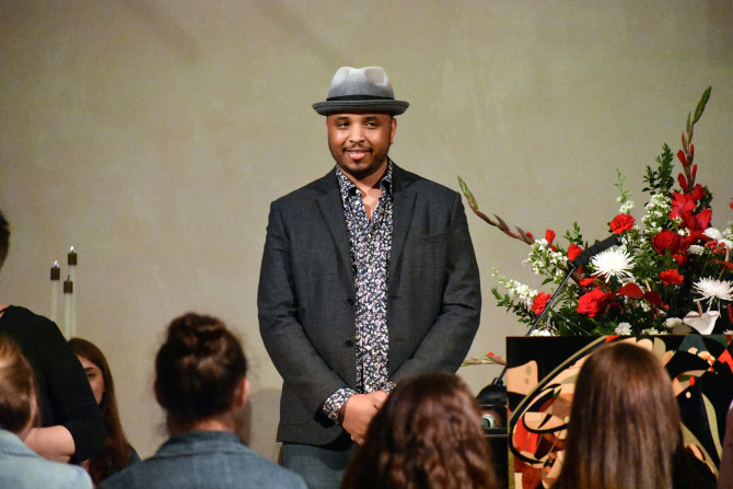 Photo: Justin Simien '05 Tells Soon-to-Be Chapman Grad...