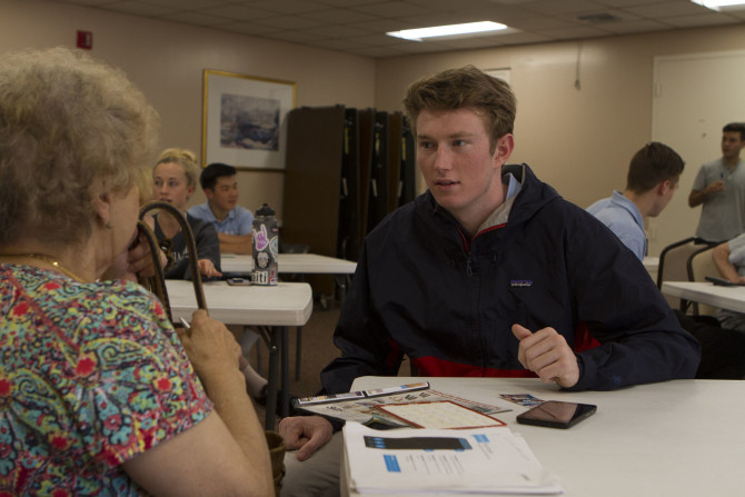 Photo: Students Offer Tech Help to Senior Citizens