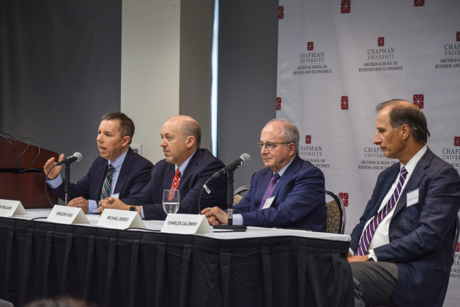 Photo: Chapman Hosts First Shadow Open Market Committe...