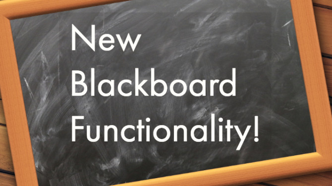 Photo: Blackboard Upgrade Highlights