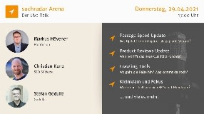 Video: suchradar Arena (29. April 2021): Page Speed, Product Reviews Update, SEO-Kleinkram + mehr