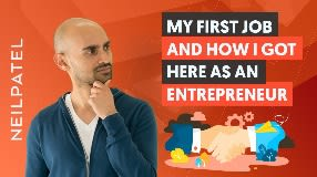 Video: Neil Patel on His First Job Creating Content - Selling Strategies