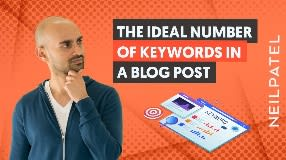 Video: How Many Keywords Should A Blog Post Contain? | The Right Way to Use Keywords in your Blog