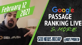 Video: Google Passage Ranking Live, Search & Image Algo Updates, News/Discover Manual Actions & Dark Theme