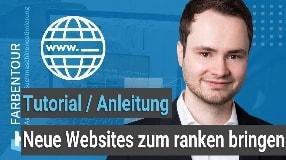 Video: Neue Websites schnell zum ranken bringen (Tipps für erste Rankings)