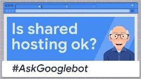 Video: Is shared hosting ok? #AskGooglebot