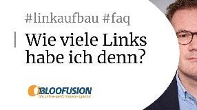 Video: Wie viele Backlinks hat meine Website? [Bloofusion Linkaufbau FAQ #3]
