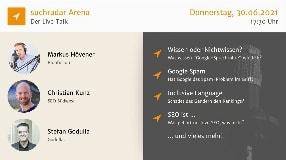 Video: suchradar Arena (30. Juni 2021): Ranking-Wissen, Google-Spam, Gendern + mehr