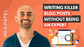 Video: How to Write Amazing Blog Posts WITHOUT Being an Expert in Your Niche