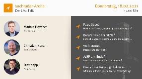 Video: suchradar Arena (Feb 18 2021): Page Speed, Web Stories, AMP + mehr