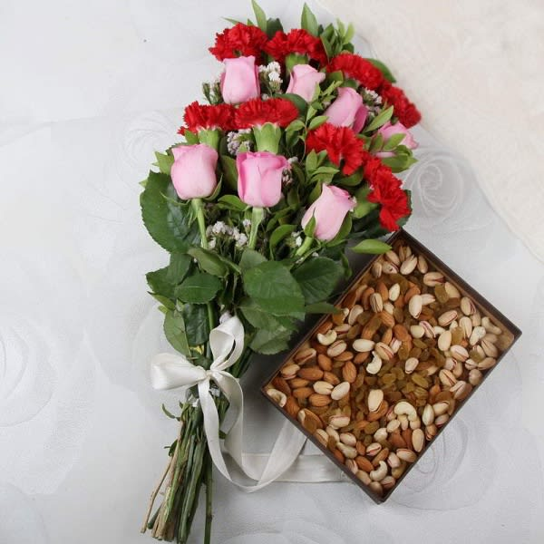 Mix Dry Fruits and Flowers