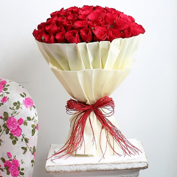 Authentic Love for 50 red roses