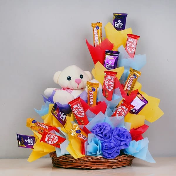 Chocolate and teddy Bouquet