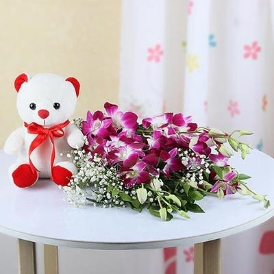 Orchids With Teddy