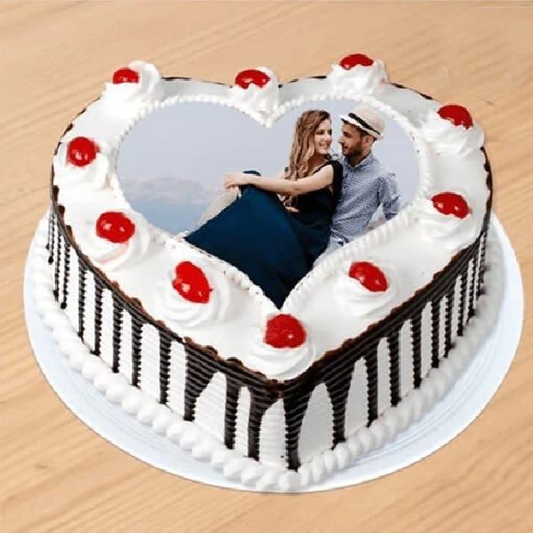 Hearty Photo Cake