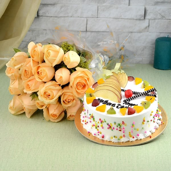 Fruit Cake and Roses
