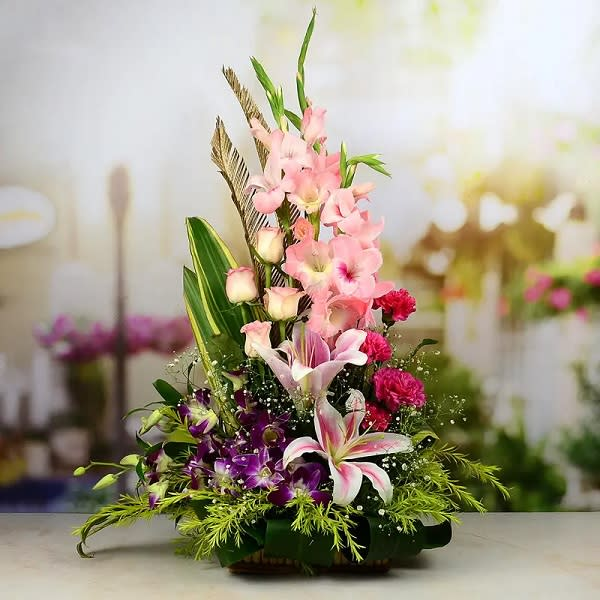 Exotic Basket of mix flowers