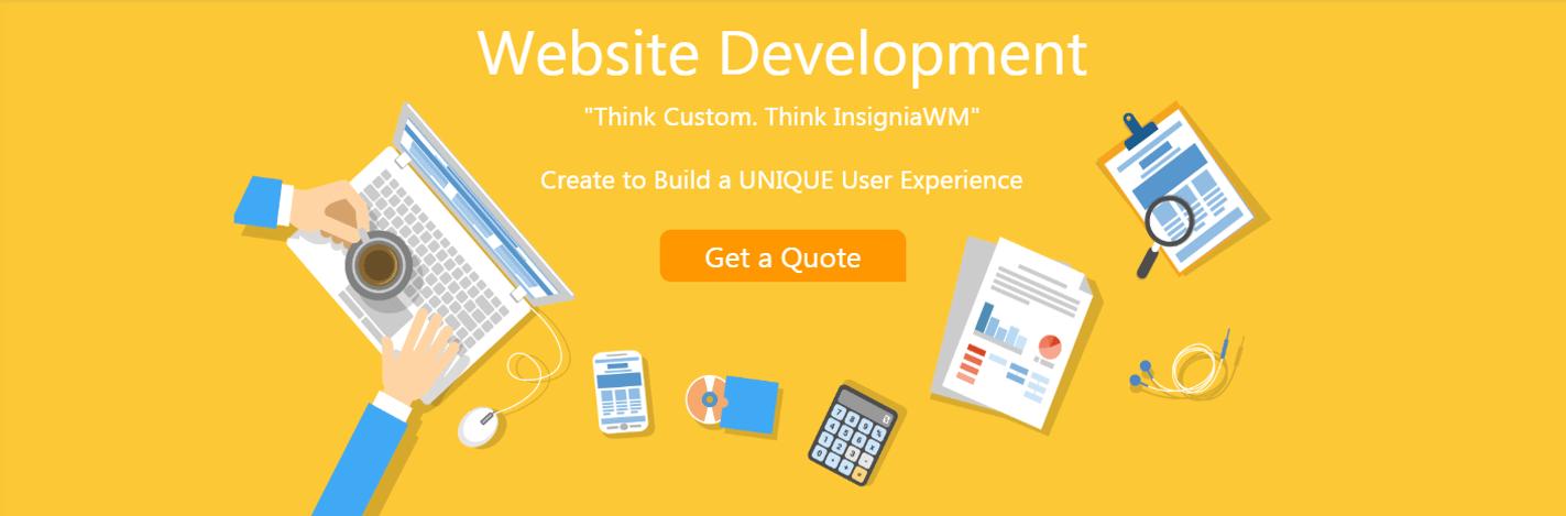 Web development slider insignia