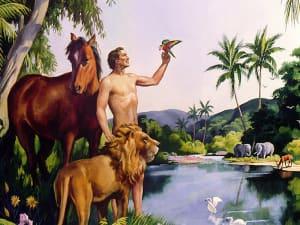 Adam menjaga dan mengusahakan Taman Eden