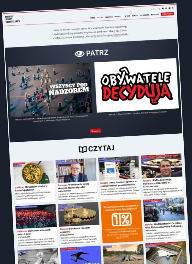 Strona Instytutu Spraw Obywatelskich